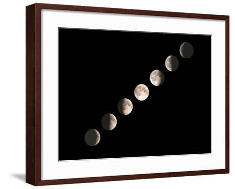 Composite Image of the Phases of the Moon-John Sanford-Framed Art Print