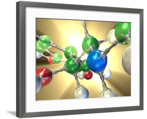 Adrenaline Hormone Molecule-David Mack-Framed Art Print