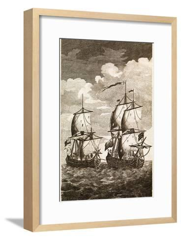 Anson's Spanish Galleon Capture, 1743-Middle Temple Library-Framed Art Print