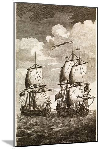 Anson's Spanish Galleon Capture, 1743-Middle Temple Library-Mounted Photographic Print