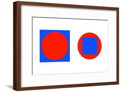 Circle In a Square Illusion-Science Photo Library-Framed Art Print
