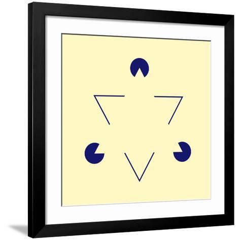 Kanizsa Triangle-Science Photo Library-Framed Art Print