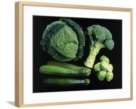 Green Vegetable Selection-Damien Lovegrove-Framed Art Print