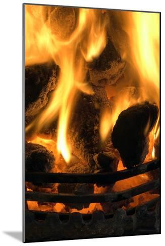 Coal Fire-Duncan Shaw-Mounted Photographic Print