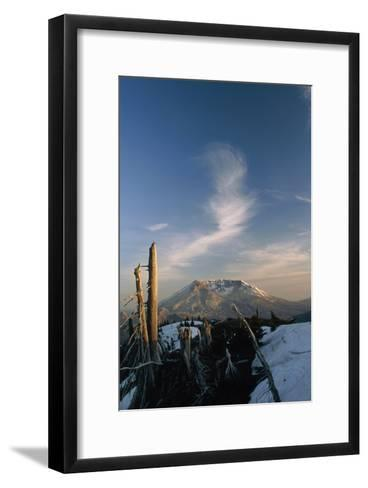 Mount St Helens Volcano-Alan Sirulnikoff-Framed Art Print