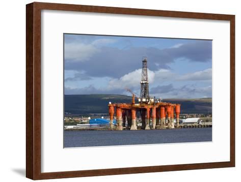 Oil Drilling Rig, North Sea-Duncan Shaw-Framed Art Print