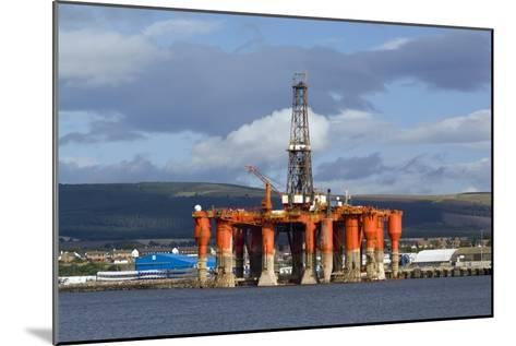 Oil Drilling Rig, North Sea-Duncan Shaw-Mounted Photographic Print