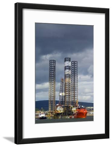 Jackup Oil Drilling Rig, North Sea-Duncan Shaw-Framed Art Print