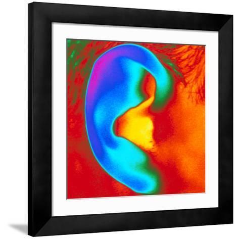 Thermogram of a Close-up of a Human Ear-Dr. Arthur Tucker-Framed Art Print
