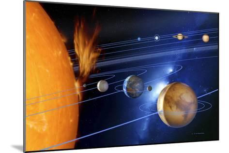Solar System-Detlev Van Ravenswaay-Mounted Photographic Print