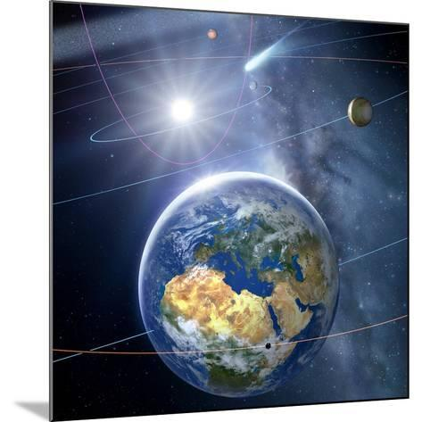 Inner Solar System, Artwork-Detlev Van Ravenswaay-Mounted Photographic Print