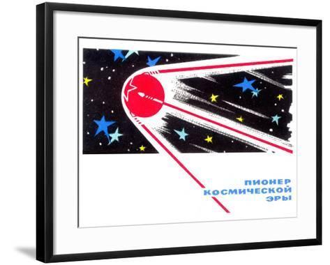Sputnik 1 Postcard-Detlev Van Ravenswaay-Framed Art Print