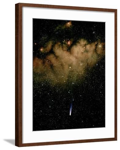 Halley's Comet-Detlev Van Ravenswaay-Framed Art Print