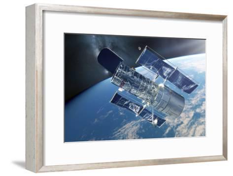 Hubble Space Telescope, Artwork-Detlev Van Ravenswaay-Framed Art Print