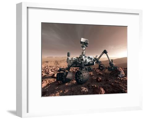 Curiosity Rover, Artwork-Detlev Van Ravenswaay-Framed Art Print