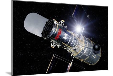 Hubble Space Telescope In Orbit, Artwork-Detlev Van Ravenswaay-Mounted Photographic Print