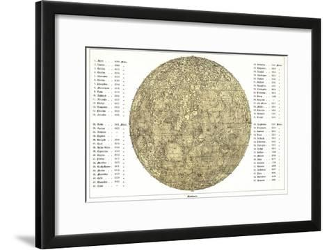 Lunar Map, 1822-Detlev Van Ravenswaay-Framed Art Print