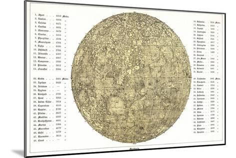 Lunar Map, 1822-Detlev Van Ravenswaay-Mounted Photographic Print
