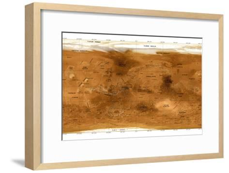 Mars Topographical Map, Satellite Image-Detlev Van Ravenswaay-Framed Art Print