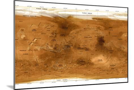 Mars Topographical Map, Satellite Image-Detlev Van Ravenswaay-Mounted Photographic Print