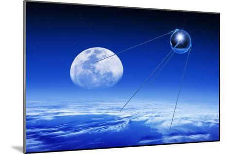 Sputnik 1 Satellite, Composite Image-Detlev Van Ravenswaay-Mounted Photographic Print