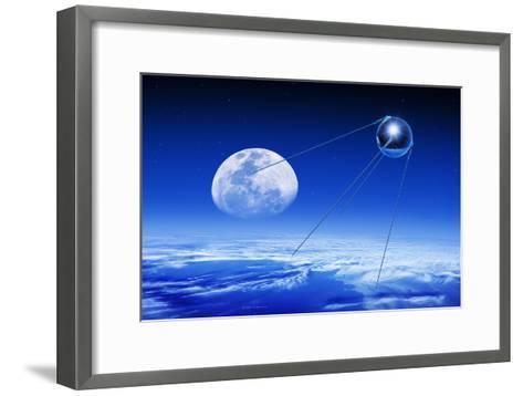 Sputnik 1 Satellite, Composite Image-Detlev Van Ravenswaay-Framed Art Print