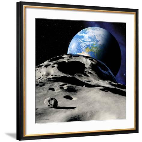 Near-Earth Asteroid-Detlev Van Ravenswaay-Framed Art Print