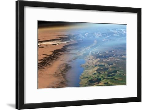 Terraformed Mars, Artwork-Detlev Van Ravenswaay-Framed Art Print