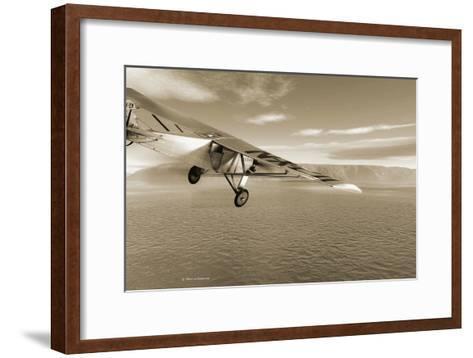 First Solo Transatlantic Flight, 1927-Detlev Van Ravenswaay-Framed Art Print