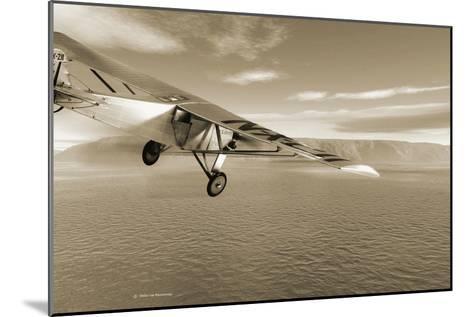 First Solo Transatlantic Flight, 1927-Detlev Van Ravenswaay-Mounted Photographic Print