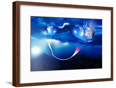 Wormhole Travel-Detlev Van Ravenswaay-Framed Art Print