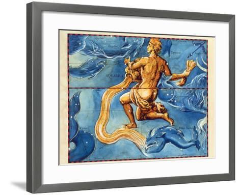 Historical Artwork of the Constellation Aquarius-Detlev Van Ravenswaay-Framed Art Print