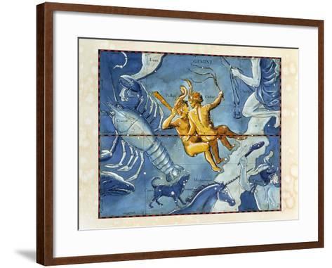 Historical Artwork of the Constellation of Gemini-Detlev Van Ravenswaay-Framed Art Print