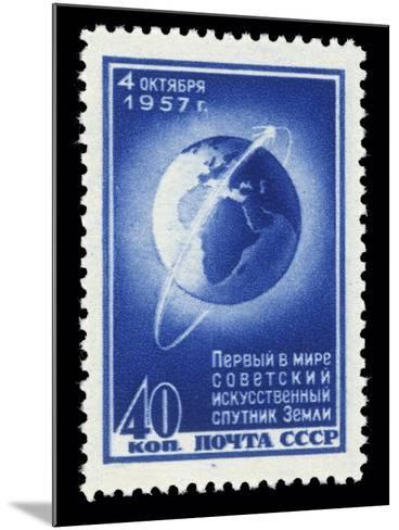 Sputnik 1 Stamp-Detlev Van Ravenswaay-Mounted Photographic Print