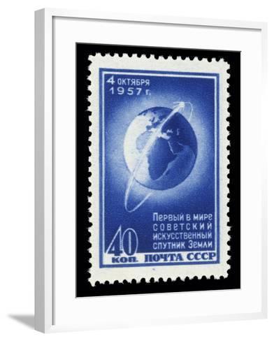 Sputnik 1 Stamp-Detlev Van Ravenswaay-Framed Art Print