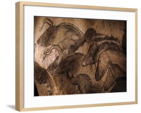 Stone-age Cave Paintings, Chauvet, France-Javier Trueba-Framed Art Print
