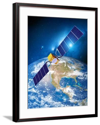 Galileo Navigation Satellite-Detlev Van Ravenswaay-Framed Art Print