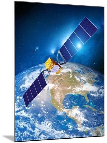 Galileo Navigation Satellite-Detlev Van Ravenswaay-Mounted Photographic Print