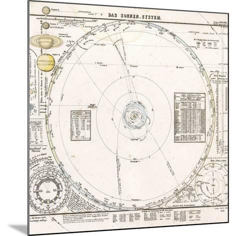 Solar System Map From 1853-Detlev Van Ravenswaay-Mounted Photographic Print