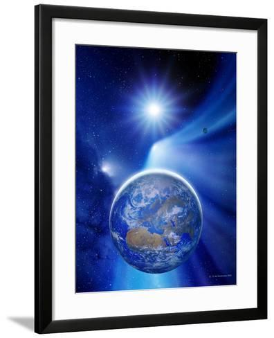 Earth In a Comet's Tail-Detlev Van Ravenswaay-Framed Art Print