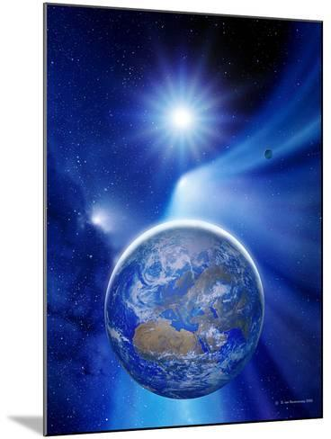 Earth In a Comet's Tail-Detlev Van Ravenswaay-Mounted Photographic Print