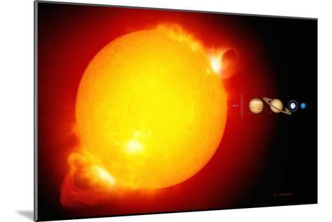 Sun And Its Planets-Detlev Van Ravenswaay-Mounted Photographic Print
