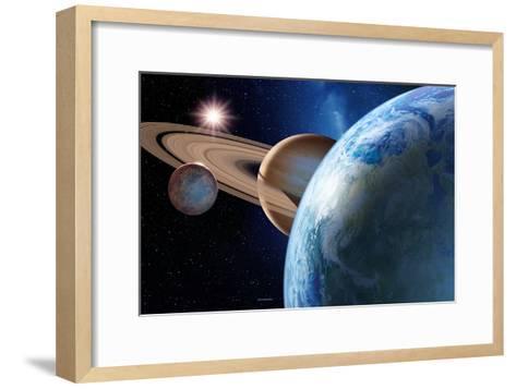 Earth-like Gas Giant Moon-Detlev Van Ravenswaay-Framed Art Print