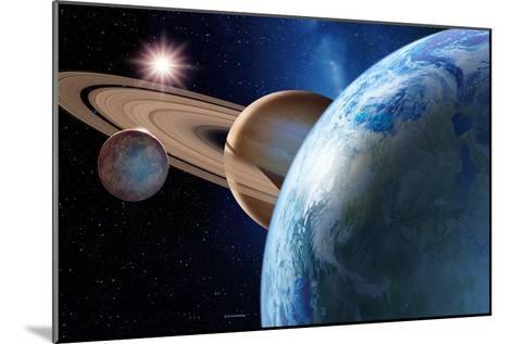 Earth-like Gas Giant Moon-Detlev Van Ravenswaay-Mounted Photographic Print