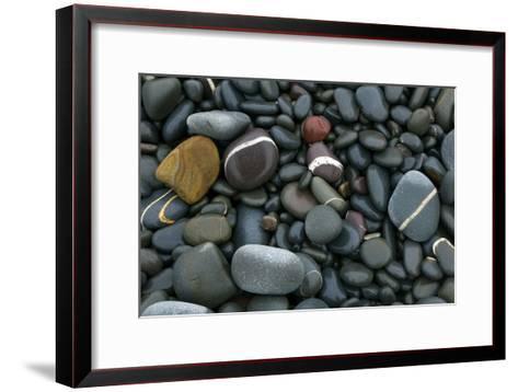 Pebbles on a Beach-Dr. Keith Wheeler-Framed Art Print