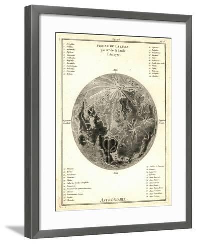 Early Map of the Moon, 1772-Detlev Van Ravenswaay-Framed Art Print