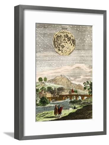 Early Map of the Moon, 1635-Detlev Van Ravenswaay-Framed Art Print