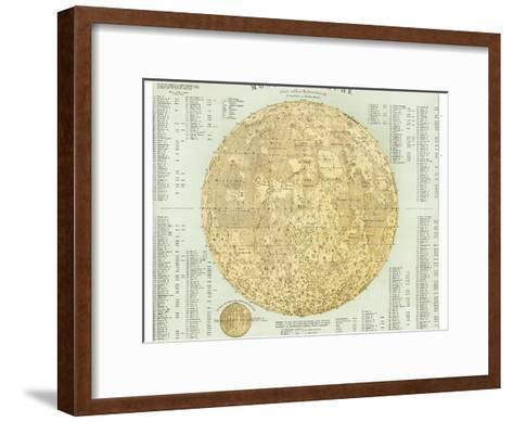 19th Century Map of the Moon-Detlev Van Ravenswaay-Framed Art Print