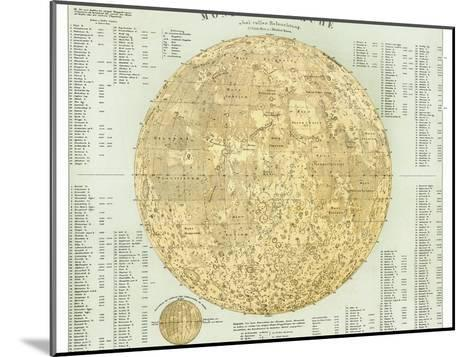 19th Century Map of the Moon-Detlev Van Ravenswaay-Mounted Photographic Print