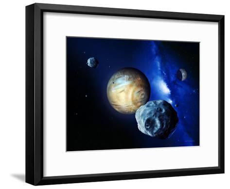 Pluto And Charon And Kuiper Belt-Detlev Van Ravenswaay-Framed Art Print